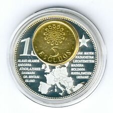 Madeira 1 Coin(gilded)+Medal 40mm, 31g, Proof Like + Zertifikat