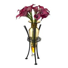 Danya B MC750-A - Amber Amphora Vase with Wire Stand NEW