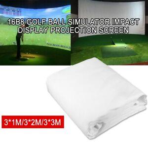 Golf Ball Simulator Fantastic Impact Display Projection Screen Indoor 3*2M