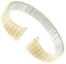 10-13mm Kreisler Light Gold Tone Stainless Tapered Twist-O-Flex Watch Band R-27