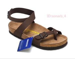 Birkenstock Yara Leather Ankle Strap Sandals Cork Footbed women sandals
