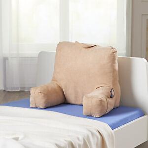 Rückenkissen mit Armlehnen Rückenkissen Rückenlehne Lesekissen Bett Rückenstütze