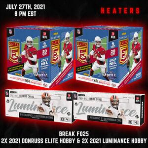Arizona Cardinals Break F025 2021 Donruss Elite Hobby Box Luminance Football