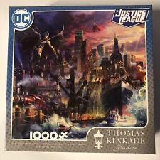 Thomas Kinkade Dc Comics Justice League Showdown Gotham Pier 1000 Piece Puzzle