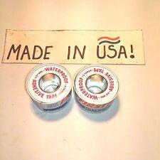 "American White Cross Waterproof Adhesive Tape 1"" x 180"" USA Made 2 Rolls"