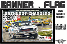 Musclecar Bathurst Charger Special Edition 1971 Hardie Ferodo 500 banner / flag