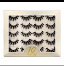 10 Pairs false eyelashes Fluffy dramatic lashes