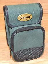 "Genuine Canon 5.5"" x 3.5"" (inch) Green Canvas Double Pocket Camera Pouch / Bag"