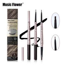 Music Flower Eyebrow Pencil  2 in 1  Waterproof Twist Up Eye brow Tattoo Pen UK