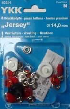 8 Botones De Presión sin Costura Jersey ' COLOR ' 14 MM TAPA ROJO 83524