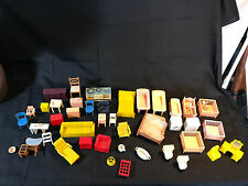 Plastic Dollhouse Furniture LOT Mickey Mouse Crib Baby Chairs Kitchen Toilet Toy