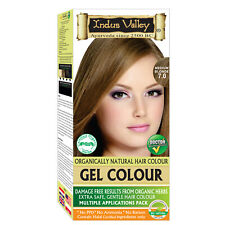 Indus Valley Organically Natural Gel Hair Color Medium Blonde 7.0 For Hairs care