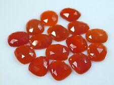 Top Natural Carnelian Chalcedony Irregular Shape Rose Cut Slices 13x11MM - 5 Pcs