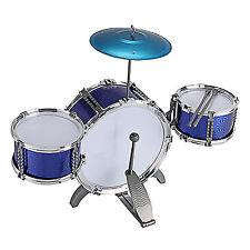 Children Kids Toy 3 Drum Musical Fun Toy Drum Blue Set & Sticks