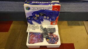 Nintendo 64 Grape Purple Funtastic Console CIB Complete Box Manual N64