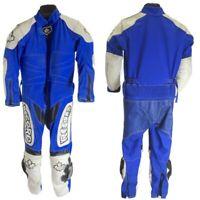 Combinaison Pour Minimoto RECORD Gore-Tex Couleur Bleu et Blanc Avec Protections