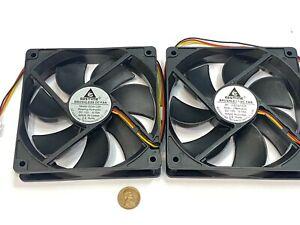 2 x GDSTIME Computer Case fan Large 12V 3Pin 120mm 25mm gda blower 1225 G19
