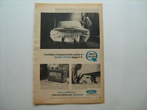 """1965 """"AUTOLITE Sta-Ful Battery"""" for FoMoCo cars vintage ad from private estate"""
