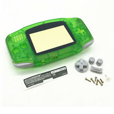 Transparent Green Full Housing Shell Case Replacement for GBA Gameboy Advance