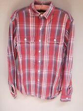 Ralph Lauren Men's Rugby Button Down Long Sleeve Flannel Plaid Shirt Size Medium