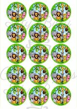 Edible Cupcake Toppers JUNGLE theme PRE CUT Highest Australian Quality