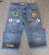 UO Urban Renewal Vintage Levis Relaxed Straight 559 Jeans w/Patches 30x30