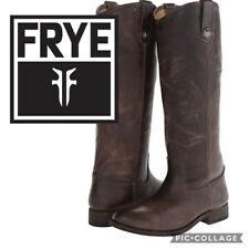 FRYE Riding Boots Melissa Button Tall Leather Knee High Boot Pull On Slate 7