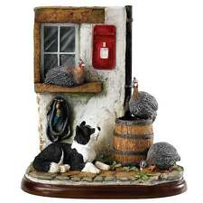 Border Fine Arts James Herriot On Guard Border Collie & Hens Figurine New A27559