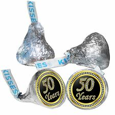 50th Birthday or Anniversary Hershey Kisses Kiss Labels Stickers for Party Favor