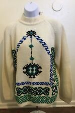 Vintage Kimlon Beige Korean Imported Sweater Pullover Women Medium