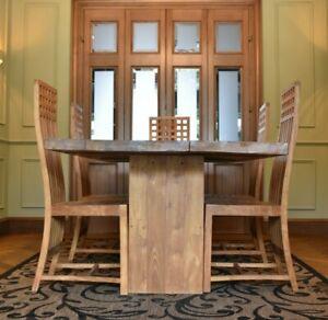 Raft Teak furniture set - Dining table, chairs, Storage cubes