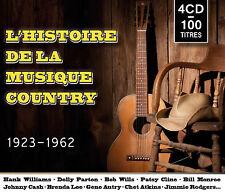 CD L'histoire de la musique country : 1923-1962 - Coffret 4 CD / 100 Titres