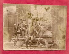 AUTO  CHENILLE VOIR+ PHOTO 8,5 x6 cm Sépia