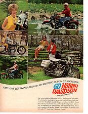 1967 HARLEY-DAVIDSON SPORTSTER / FROM 50cc TO 1200cc  ~  NICE ORIGINAL PRINT AD