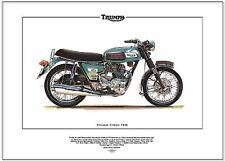 TRIUMPH TRIDENT T150 - Motor Cycle Art Print - Classic British 750cc Roadster