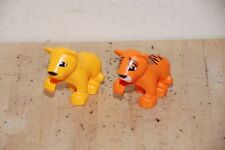 Lot of 2  LEGO DUPLO TIGER and Lion CUB WILD CAT Animal Zoo  for SAFARI