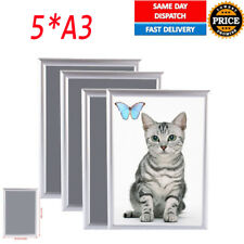 5pcs A3 Aluminium Clip Snap Frames Photo Picture Poster Wall Collage Waterproof