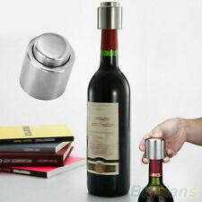 Stainless Steel Vacuum Sealed Wine Bottle Stopper Plug Bottle Cap Corks Good