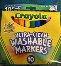 New listing Crayola Broad Line Ultra-Clean Washable Markers