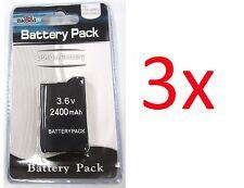3 x PSP 2000 3000 (SLIM) Replacement Battery Packs 3.6v 2400 mAh