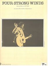 """NEIL YOUNG """"FOUR STRONG WINDS"""" SHEET MUSIC-PIANO/VOCAL/GUITAR/CHORDS-RARE-NEW!!"""