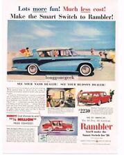 Original Print Ad 1956 Hudson Dealers Rambler Cross Country 2 Page 1940-49 Merchandise & Memorabilia