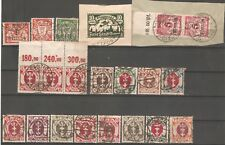 Germany Poland DANZIG lot of 21 used stamps on Card - see scan !!!