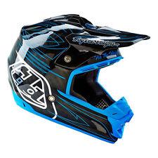 Troy Lee Designs - SE3 Doubleshot Blue Composite Helmet – lg
