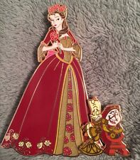 Art Of Belle Disney Fantasy Pin LE 75 Winter Bell Beauty And The Beast Pins