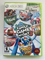 Hasbro Family Game Night 3 (Xbox 360) -W/ Manual & Tested- FAST SHIPPING