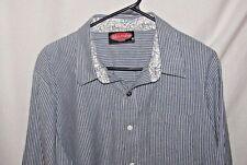 Mambo Australia  Size XL Long Sleeve Button Up Striped Shirt