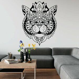Cat Mandala Animal Decorative Decal Fun Cute Pattern Wall Art Sticker Home UK