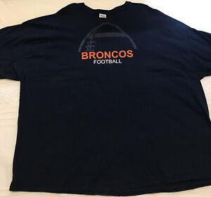 NEW 5XL Denver Broncos NFL Football Shirt TOLAN #40 Navy Orange NFL T-shirt Tee