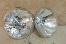 "2 NOS LUCAS 7"" 12V SEALED BEAM 60/45W FORD Escort RS Cortina MINI Mk1 Mk2 Mk3"